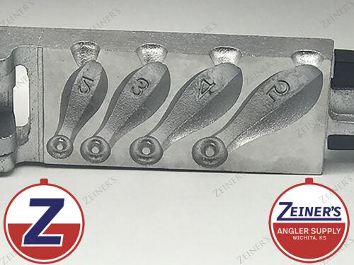 1102 New DoIt Bank Sinker Mold - 4 sizes 2, 3, 4, 5 oz