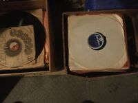 Collection of old 78 records