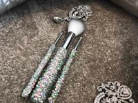 Gem encrusted make up brushes - Set of 5