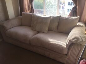 4 seater sofa and matching round armchair DFS
