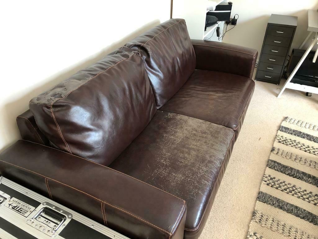 Faux Leather Double Sofa Bed Free In St Ives