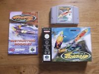 Hydro Thunder - Nintendo 64 game with original box and manual