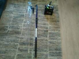 Brand new telescopic beachcaster and reel
