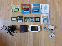 Gameboy Advance (GBA) & GBA SP Bundle, with 10x Games, Chargers and Some Instruction Booklets!
