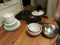 Dishes+ pans+plates set ikea