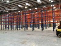 JOB LOT industrial pallet racking 6m high ( storage , shelving )