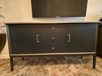 Upcycled Grey and Gold Sideboard