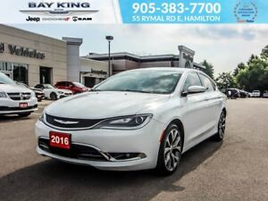 2016 Chrysler 200 C, SUNROOF, BACKUP CAM, REMOTE START, BLUETOOT
