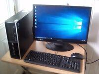 """HP. Complete PC. Windows 10, dual core, WiFi, 22"""" Screen (NORTH DORSET)"""