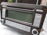 VW GOLF MK5 ,PLUS ,2005-09 RCD300 RADIO STEREO CD PLAYER HEAD UNIT 5M0035186B,carbon fibre,