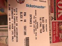 2x Black Sabbath Final Tour tickets for sale
