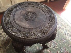 Decorative elephant side table