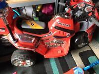 Electric police motor bike
