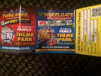 Twin lakes or wheelgate day passes x 3