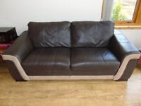3 seater leather sofa VGC