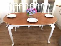 VINTAGE SHABBY CHIC TABLE EXTENDABLE FREE DELIVERY LDN🇬🇧