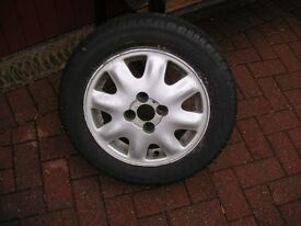 "1 x 14"" ALLOY WHEEL FIT FITTED TYRE"