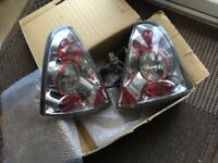 RENAULT CLIO Mk2/3 CHROME LEXUS STYLE REAR TAIL LIGHTs