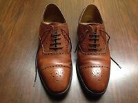 "LOAKE ""THAMES"" MENS HAND MADE OXFORD BROGUES TAN BROWN SIZE UK 8.5 RRP £275"