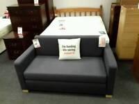 Foam sofa bed in blue fabric - British Heart Foundation sco39426