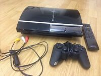 PlayStation 3 (PS3) for sale with remote and controller