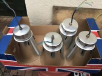 4 used silver light fitting