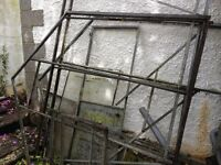 Galvanised steel greenhouse frame