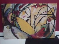 "Wassily Kandinsky ""Improvisation 10"" 1910 Gallery Wrap Canvas Painting - Excellent re-production"