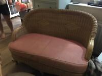 Three piece conservatory set. Sofa / settee and two chairs.