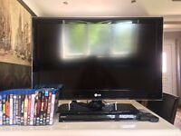 """32"""" LG Full HD TV, with Sony Blu-Ray Player and DVDS"""