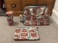 London Buses Cath Kidston Double Pocket Nappy Changing Bag In Deep Blue