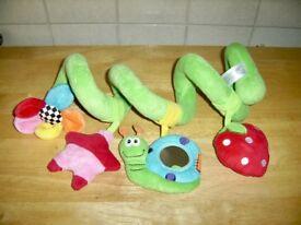Snail Baby Cot Pram Spiral Activity Toy
