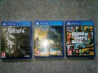 PS4! various games for sale.