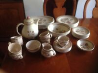 "7 settings, 43 piece dinner service. Johnson Brothers Old Granite ""Jamestown"""