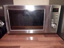 Silver Russell Hobbs microwave