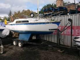 Vivacity 20 ft yacht on McGregor trailer