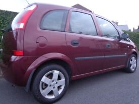 2004 clean vauxhall meriva 1.6 5 door with only 71k miles+12 months mot DRIVEAWAY OR DELIVERY