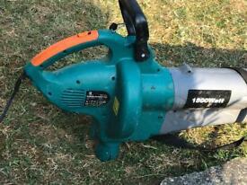 Garden vac blower with bag