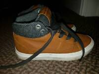 Zara Boys leather trainers