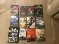 38 fiction paperback novels.