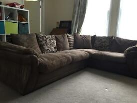L Shaped Jumbo Sofa with Chest