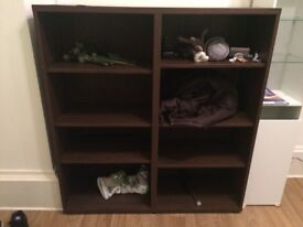 Big Shelving unit, ideal for storage or books. 1.20m x1.20m approx. 6 movable shelves.