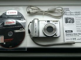 Cannon PowerShot A630 - 8.0 Megapixels Digital Camera, Good condition, with accessories.