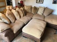 Cushion back large corner sofa