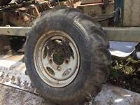 Land rover steel wheels and off road tyres x4