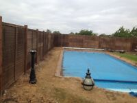 GARDEN FENCING, FENCE REPAIRS, MAINTENANCE, PAINTING