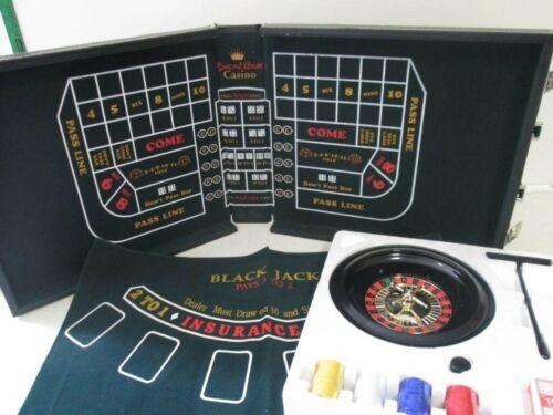 Excalibur 3 in 1 Portable Casino Game Set Roulette Craps Blackjack