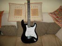 Electric Guitar *** 3rd Avenue Rocket Series – Black / White