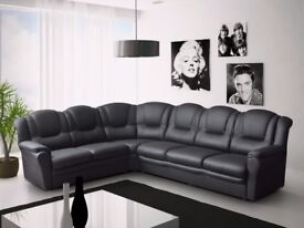 * HOME IS HEART CHRISTMAS SALE * 7 SEATER CORNER SOFA'S**3+2 SETS**CHENILLE FABRIC & ITALIAN LEATHER