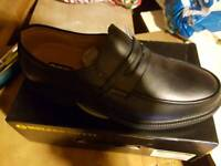 Amblers safely shoes uk size 10 Black leather